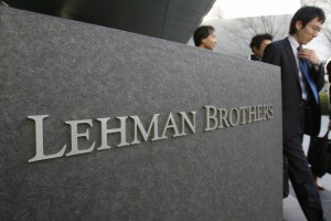 A logo of U.S. investment bank Lehman Brothers is seen outside its Asia headquarters in April 1, 2008. Lehman Brothers Holdings Inc, an investment bank beset by rumours of not having enough funding, said it plans to raise $3 billion of capital to quash questions about its stability. REUTERS/Yuriko Nakao (JAPAN)