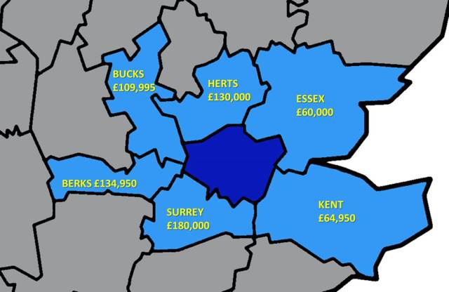 Cheapest two bed flats in counties around London. Picture by Abi Brady used under Creative Commons